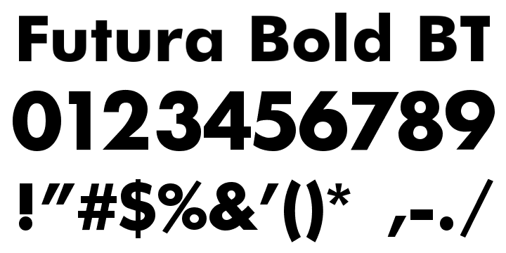 futura bt family font free download
