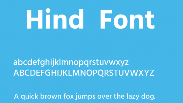 Hind Font Free Download